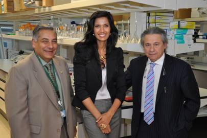Dr. Asgi Fazleabas with EFA Co-Founders Padma Lakshmi & Tamer Seckin, MD