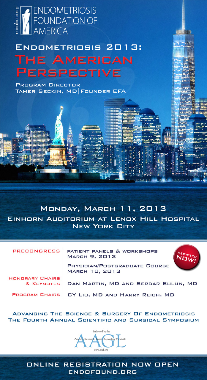 medical conference 2013 : american perspective, endometriosis foundation of america, dr Tamer seckin, drseckin, seckinmd