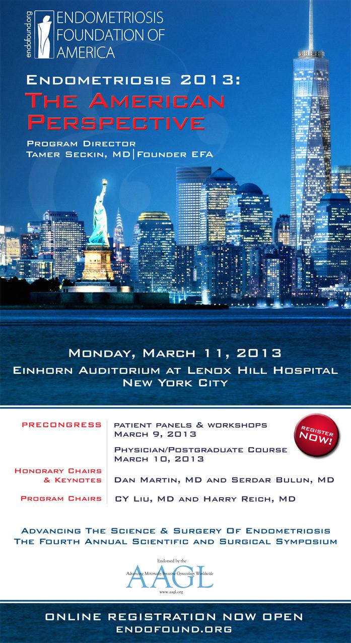 medical conference 2013 : american perspective, endometriosis foundation of america, dr Tamer seckin, drseckin, seckinmd