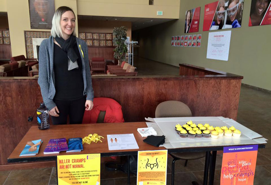 Katie Muggli Volunteer Spreads Endometriosis Awareness at Minnesota Alma Maters
