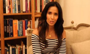 Padma Lakshmi Paints The Town Yellow!