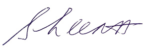Sheena Foster Signature