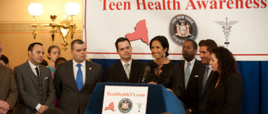 Padma Lakshmi and State Senator Jeff Klein Team Up For Teen Health