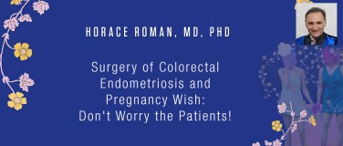 Horace Roman, MD, PhD - Surgery of Colorectal Endometriosis and Pregnancy Wish: Don't Worry the Patients!